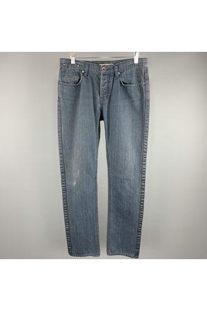 John Varvatos Navy Cotton Trousers