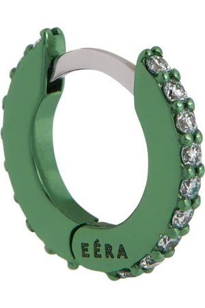 Eera Mini 18kt white gold single hoop earring with diamonds
