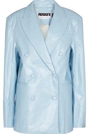 ROTATE Women Leather Jackets - Fox faux leather blazer