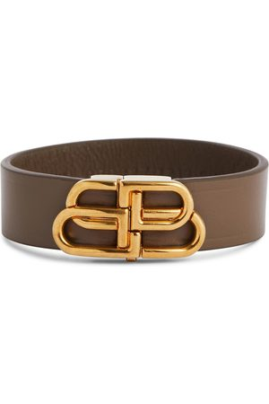 Balenciaga BB thin leather bracelet