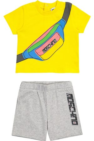 Moschino Sets - Baby printed stretch-cotton T-shirt and shorts set