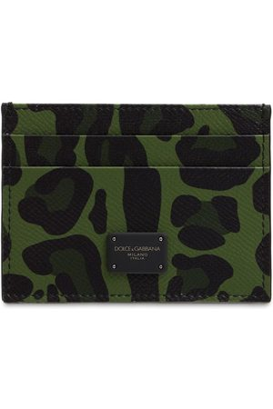 Dolce & Gabbana Leo Camo Printed Leather Card Holder
