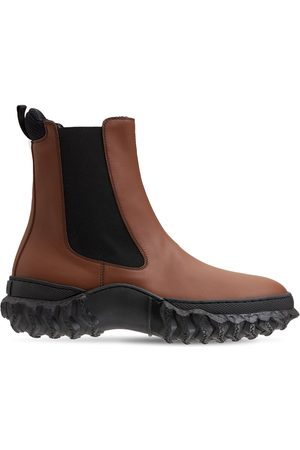 Marni 40mm Army Light Leather Chelsea Boots