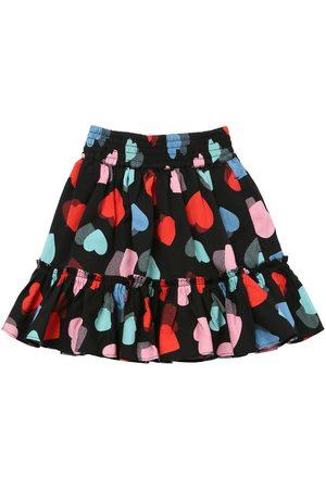 Stella McCartney Heart Print Tencel Twill Skirt
