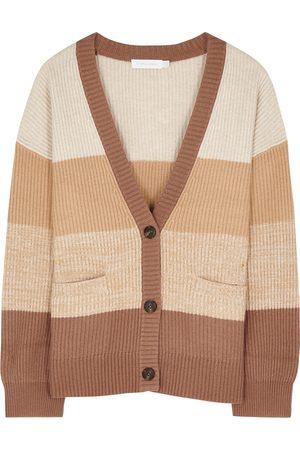JONATHAN SIMKHAI Women Cardigans - Estela striped knitted cardigan