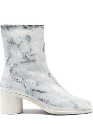 Maison Margiela Tabi Split-toe Painted-leather Ankle Boots - Mens