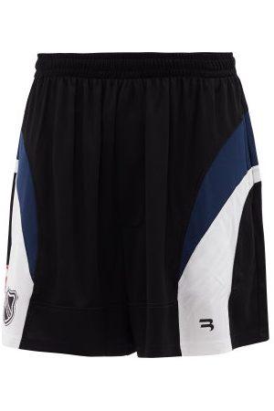 Balenciaga Men Shorts - Logo-print Mesh-jersey Shorts - Mens