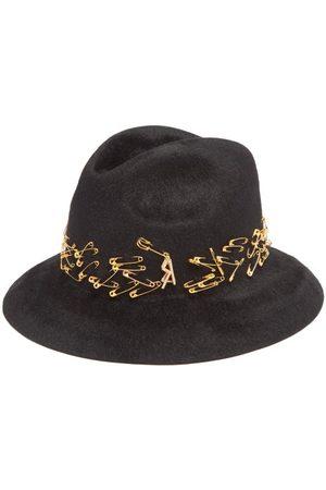 Ruslan Baginskiy Safety-pin Felt Fedora Hat - Womens