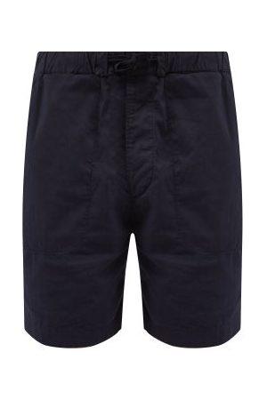 Albam Drawstring-waist Cotton-seersucker Shorts - Mens - Navy