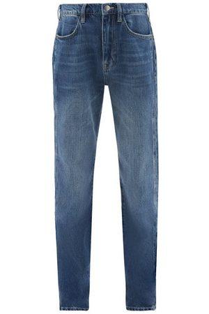 Frame Le Jane High-rise Straight-leg Jeans - Womens - Mid Denim