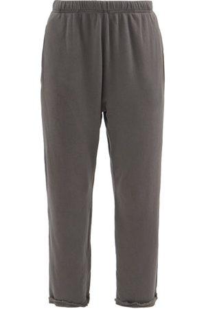 Les Tien Raw-hem Brushed-back Cotton Track Pants - Womens
