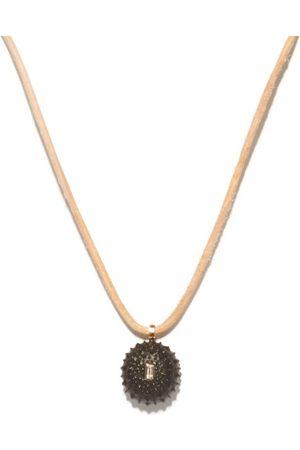 Dezso 18kt Rose-gold, Beryl & Ebony Sea Urchin Necklace - Womens - Multi