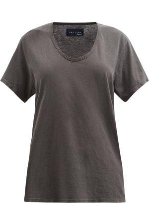 Les Tien Scoop-neck Cotton-jersey T-shirt - Womens