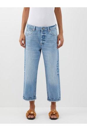 Raey Women Boyfriend Jeans - Dad Organic-cotton Baggy Boyfriend Jeans - Womens - Light