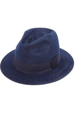 Ruslan Baginskiy Women Hats - Logo-embroidered Felt Fedora Hat - Womens - Navy