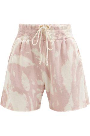 Les Tien Women Sweats - Yacht Tie-dye Cotton French Terry Shorts - Womens - Multi