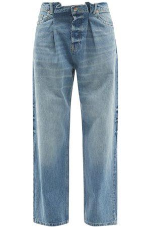 Raey Women Boyfriend Jeans - Fold Dad Baggy Boyfriend Jeans - Womens - Light