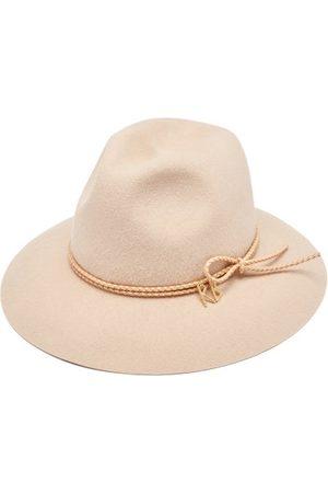 Ruslan Baginskiy Women Hats - Leather-trim Felt Fedora - Womens