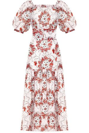 The Vampire's Wife Women Printed Dresses - The Guardian Meadow-rose Print Cotton-poplin Dress - Womens - Multi