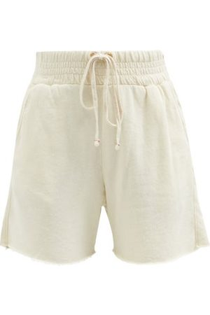Les Tien Yacht Cotton French Terry Shorts - Womens - Ivory