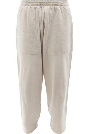 Balenciaga Men Wide Leg Pants - Cropped Jersey Wide-leg Track Pants - Mens