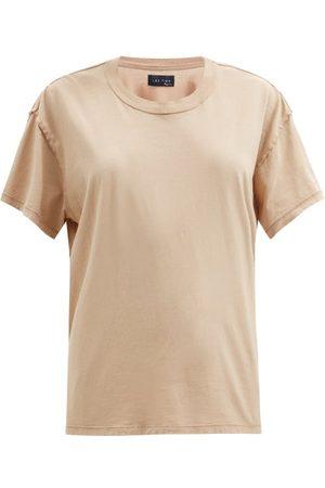 Les Tien Women Sweats - Inside Out Cotton-jersey T-shirt - Womens - Light