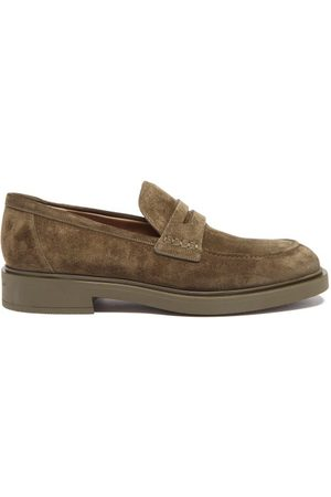 Gianvito Rossi Harris Suede Loafer - Mens - Olive