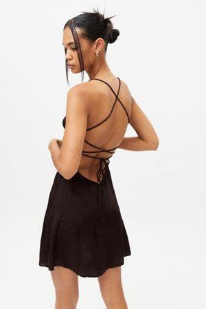 Motel Women Party Dresses - Enif Zebra Strappy-Back Mini Dress