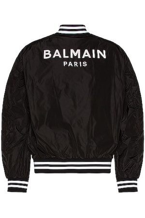 Balmain Nylon Bomber Jacket in