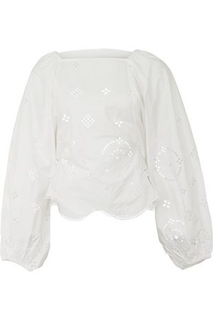 Ganni Embroidered blouse