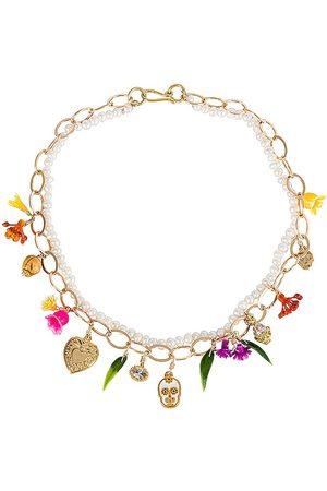 Mercedes Salazar Calaquita Necklace in Metallic Gold.