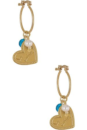 Mercedes Salazar Women Earrings - Amor Hoops in Metallic .