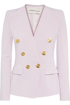 ALEXANDRE VAUTHIER Woman Double-breasted Stretch-ponte Blazer Pastel Size S