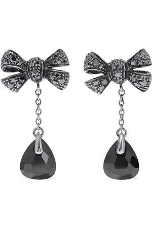 Pomellato Woman Forever 18-karat White Gold Diamond And Onyx Earrings Size