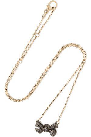 Pomellato Woman 18-karat And Gunmetal Diamond Necklace Size