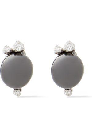 POMELLATO Women Earrings - Woman 18-karat White Gold Diamond And Ceramic Earrings Size