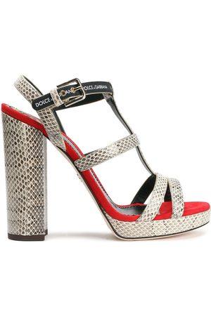 Dolce & Gabbana Woman Ayers Platform Sandals Ivory Size 38.5