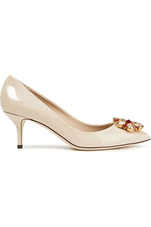 Dolce & Gabbana Woman Bellucci Crystal-embellished Patent-leather Pumps Size 37