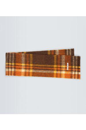Acne Studios Checked alpaca-blend scarf
