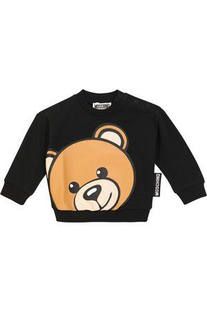 Moschino Kids Baby logo stretch-cotton sweatshirt