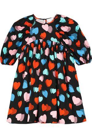 Stella McCartney Heart-printed balloon-sleeve dress