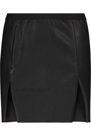 Rick Owens Sacrimini stretch-leather miniskirt