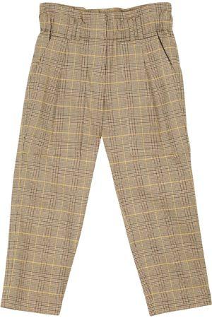 Brunello Cucinelli Checked stretch-cotton pants