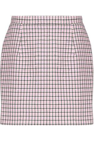 Alessandra Rich Sequined wool-blend houndstooth miniskirt