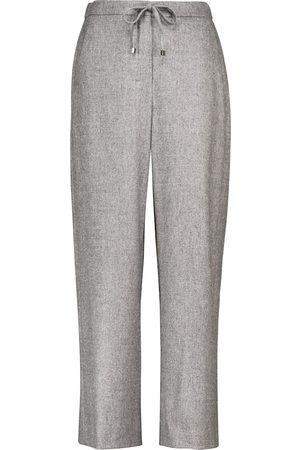 Max Mara Floria stretch-wool wide-leg sweatpants