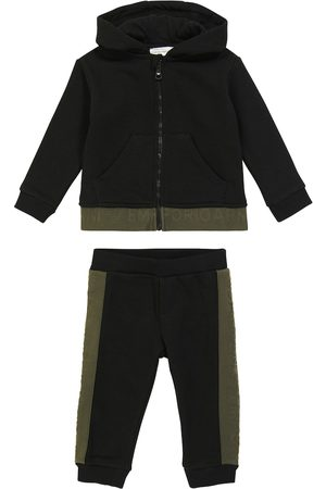 Emporio Armani Baby cotton-blend hoodie and sweatpants set