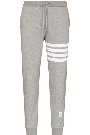 Thom Browne Classic Sweatpants In Classic Loop Back With Engineered 4-Bar - Grey