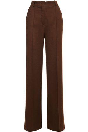 Loro Piana Cashmere Flannel Straight Leg Pants