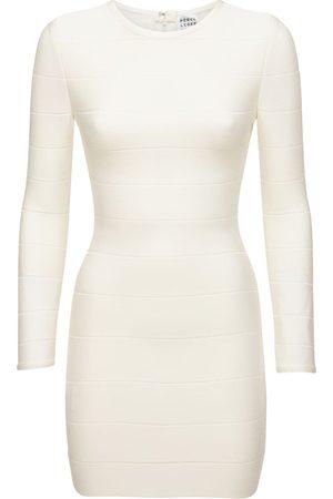 Hervé Léger Stretch Jersey Knit Mini Dress