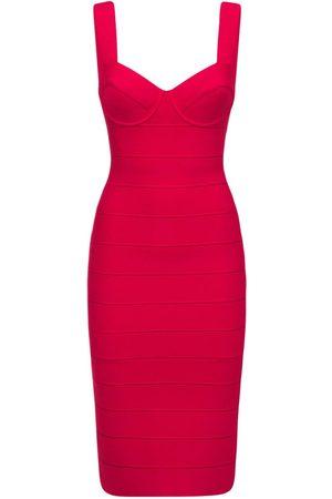 Hervé Léger Women Knitted Dresses - Julia Rr Stretch Nylon Knit Midi Dress